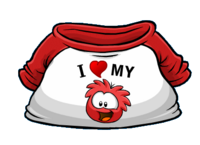I Heart My Red Puffle T-Shirt Icon