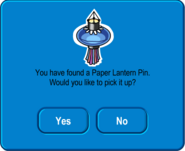 Paper Lantern Pin Pick Up