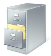 Windows file cabinet .cab icon