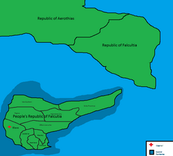 People's Republic of Falcutia Map