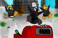 Running Penguins
