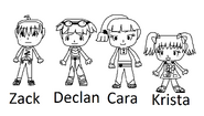 All human kids character drafts
