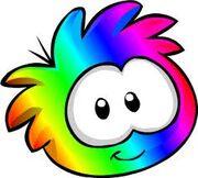 Rainbow puffle