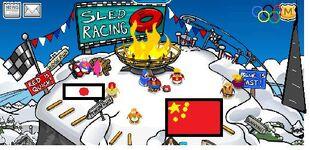 The ski hill penguin olympics 2012