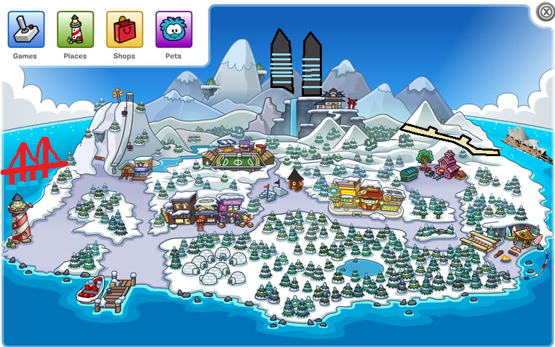 Penguin Map Of The World.Countries Of The World Party 2015 Club Penguin Fan World Wiki