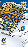 The pizza palor from outside