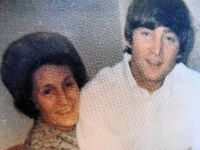 Mimi Smith and John Lennon