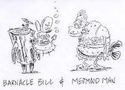 MermaidManandBarnacleBoyEarlyArt24