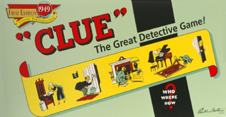 1949 edition of Clue (a.k.a. Cluedo)