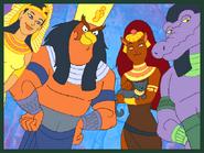 Four egyptian gods