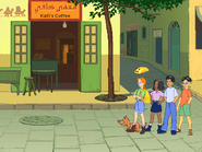 Cairo outside coffee shop