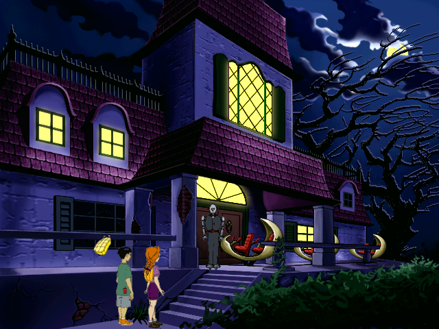 description of the outside of a haunted house