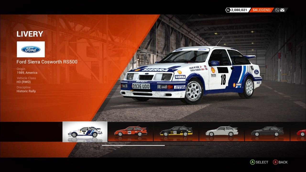 DiRT 4 Ford Sierra Cosworth RS500