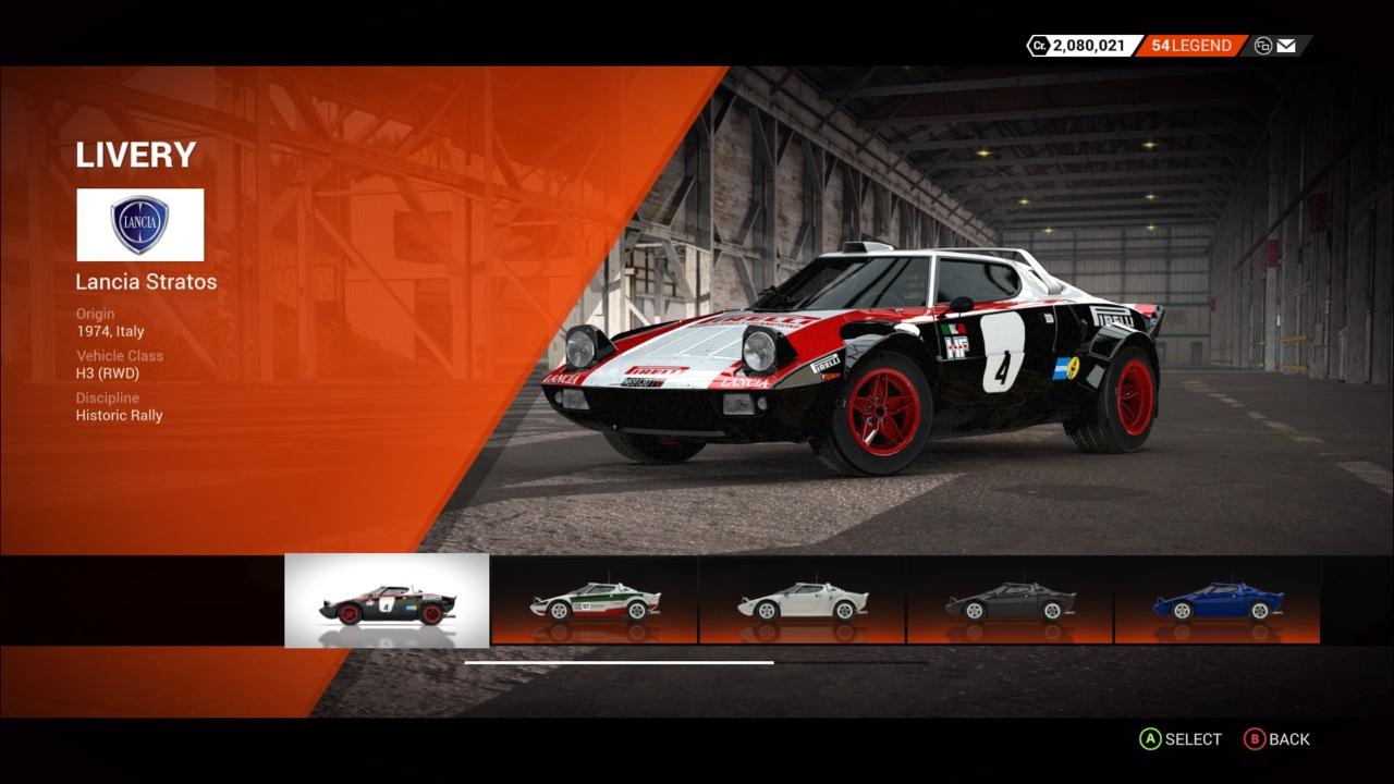 DiRT 4 Lancia Stratos