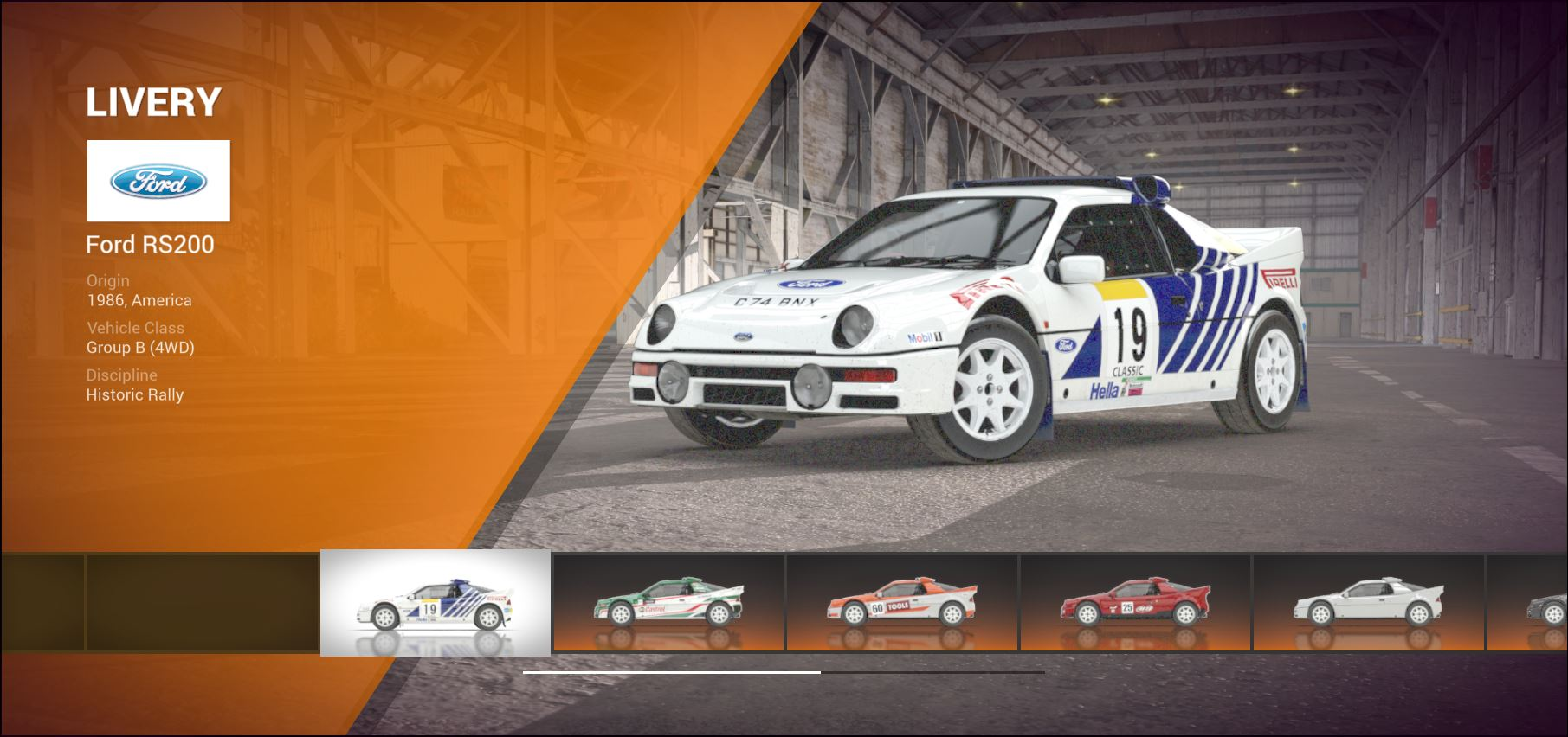 DiRT 4 Ford RS200