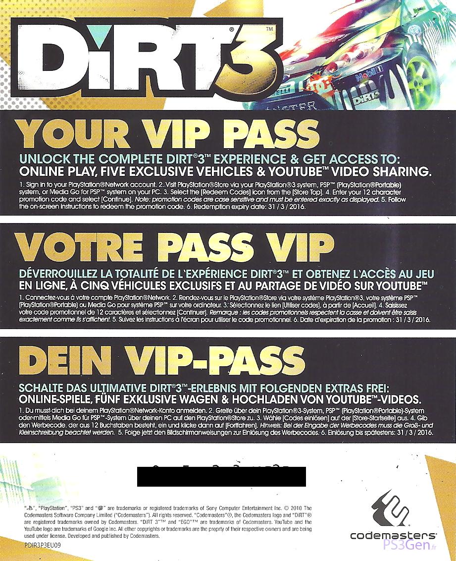 VIP Pass (DiRT 3)   Colin McRae Rally and DiRT Wiki   FANDOM