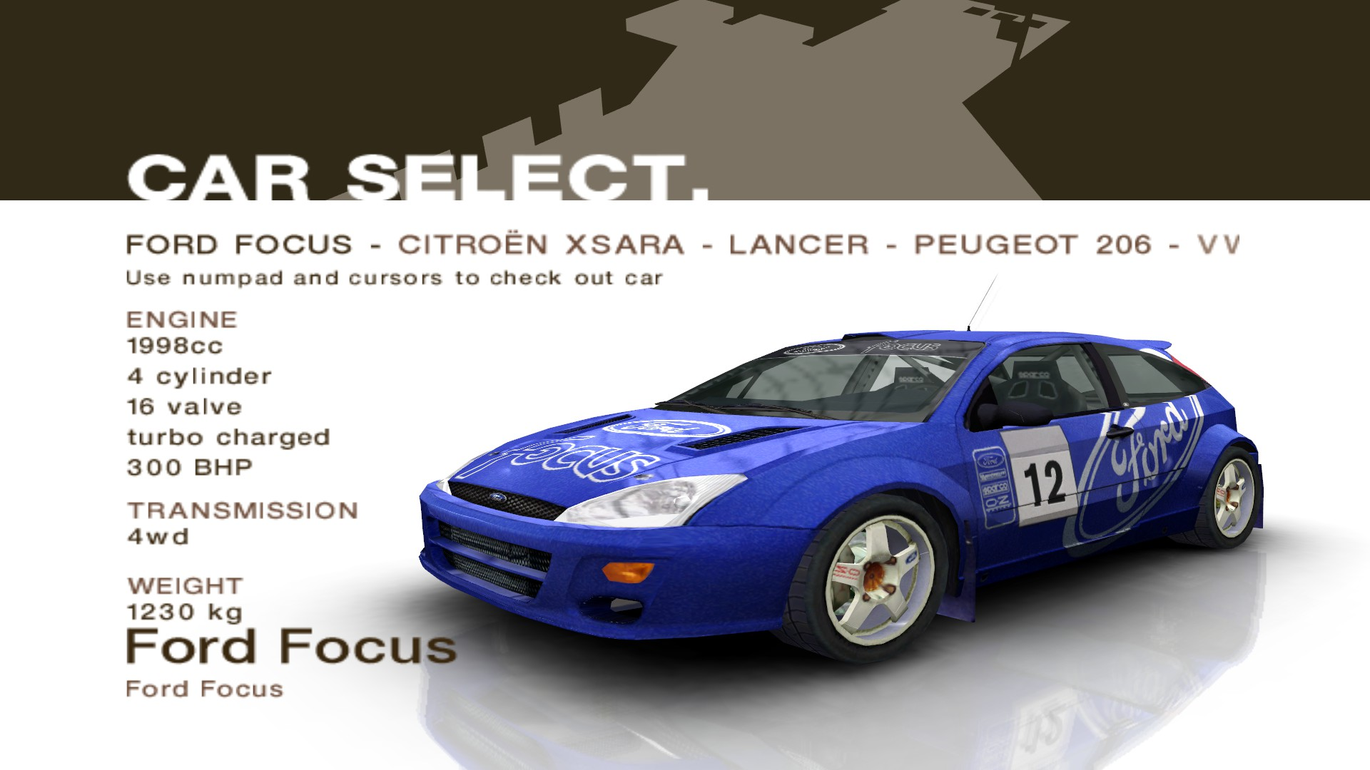 CMR2005 Ford Focus RS 2001