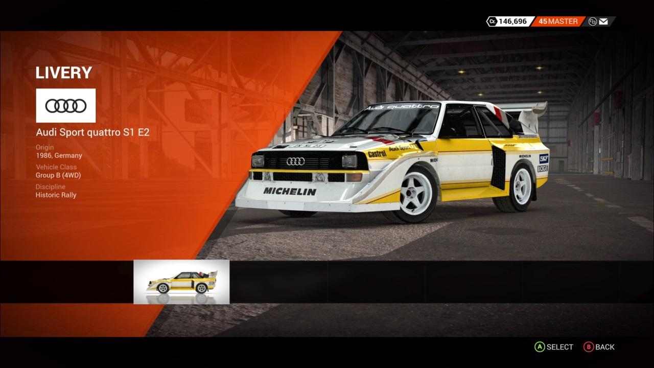 DiRT 4 Audi Sport quattro S1 E2