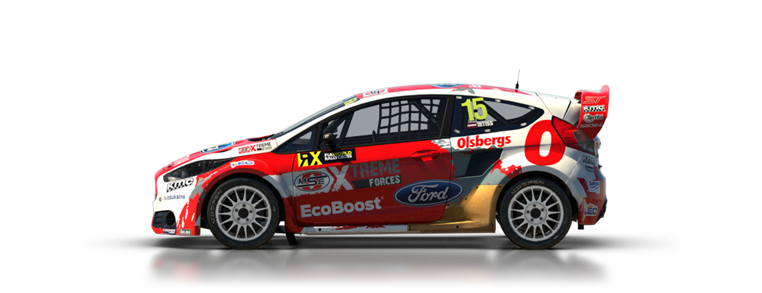 Dirt Rally Ford Fiesta Rallycross
