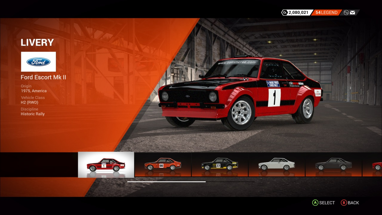 DiRT 4 Ford Escort Mk II
