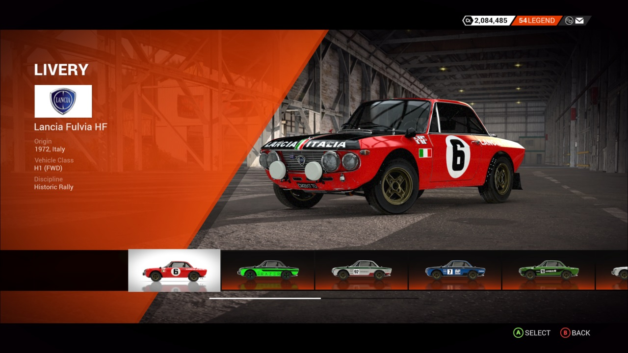 DiRT 4 Lancia Fulvia HF