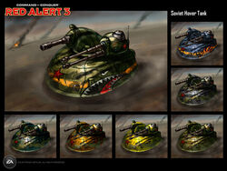 RA3 Hover Tank Concept Art