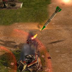атака ракеты, и попытка Зенитки сбить ее