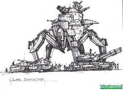 RA2 Land Battleship Concept