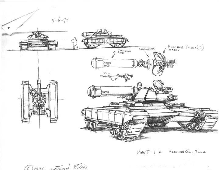 MGT-1A microwave gun tank   Command and Conquer Wiki