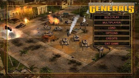 Command and Conquer Generals (2003) - main menu 4K, ULTRA HD
