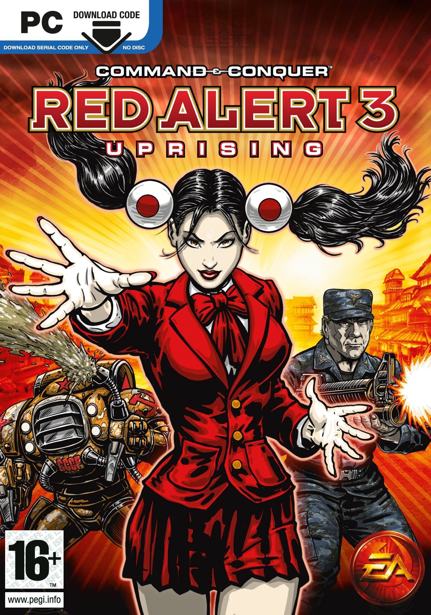 Image result for Command And Conquer Red Alert 3 cover pc