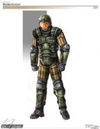 Renegade GDI Rocket soldier concept art