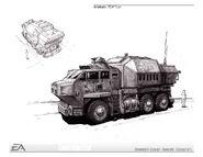 USA POW Truck concept art