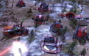Third Tiberium War laser fences, defending individual structures
