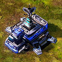 A [[Prospector]] deployed into a Command Hub on land