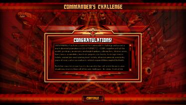 Commander's Challenge Congratulations