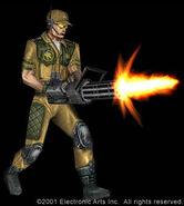 Renegade GDI Officer Render