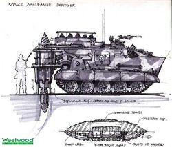 RA2 M22 Mole-mine deployer concept