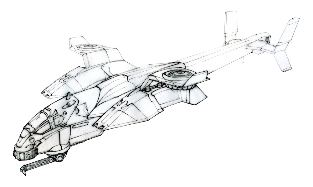 Image - CNCTW Orca Gunship Concept Art 3 jpg | Command and Conquer