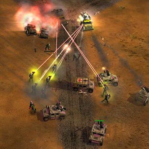 Ракетные защитники используют лазерный целеуказатель
