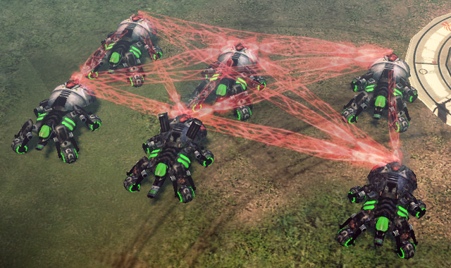 File:CNC4 Spider Tanks In-game.png