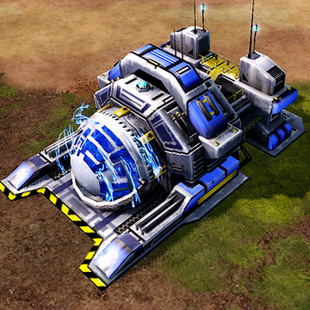 A charged Chronosphere on land.