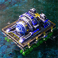 A charged Chronosphere on water