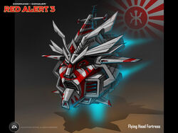 RA3 Flying Head Fortress Concept Art