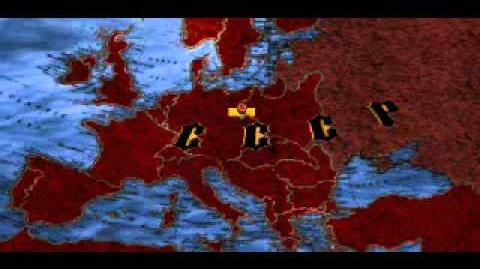 C&C Red Alert - Dagger Falls on Map of Europe & Europe Turns Red
