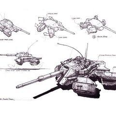 Ранний концепт-арт, повторяющий вырезанный танк