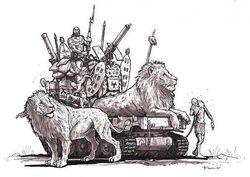 Lion Tank concept art