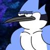 Bonus - Ripped Mordecai (Regular Show).png