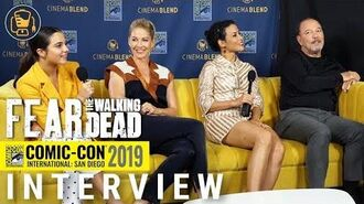 Fear the Walking Dead Interview with Jenna Elfman, Ruben Bladés, Alexa Nisenson & Dany Garcia