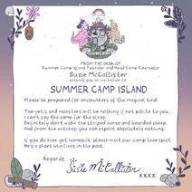 Susie's invitation letter